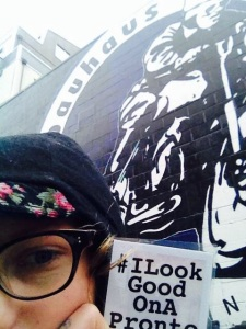 Picture from Seattle Bike Blog's #ILookGoodonaPronto ride